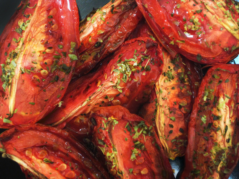 Slow Roasted Balsamic Tomatoes